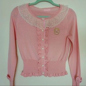 Angelic Pretty pink Lolita cardigan